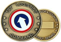 1st Logistics Command Army Challenge Coins