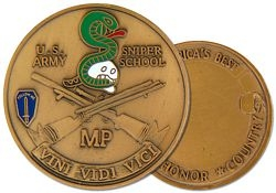 Sniper School Army Challenge Coins