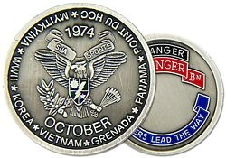 2nd Ranger Battalion Army Challenge Coins