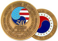 Korea 50th Anniversery Challenge Coins