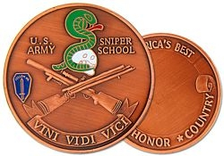 United States Army Sniper School Army Challenge Coins