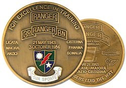 3rd Ranger Battalion  Army Challenge Coins