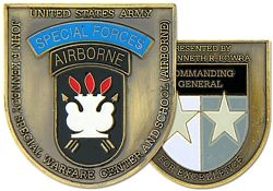 John F. Kennedy Special Warfare Center Challenge Coins