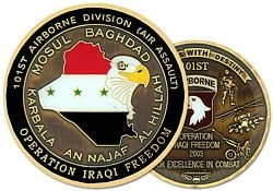 101st Airborne Division Army Challenge Coins