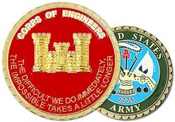 US Army Corps of Engineers Challenge Coins