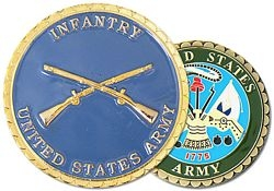 US Army Infantry Challenge Coins