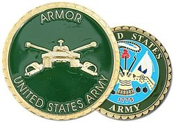 US Army Armor Challenge Coins