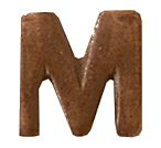 Bronze Letter M Attachments
