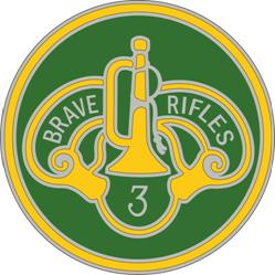 3rd Armored Cavalry Regiment Combat Service ID Badges