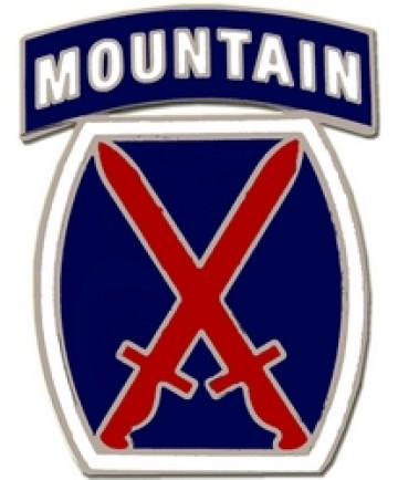 10th Mountain Division Combat Service Badge (2 inch)