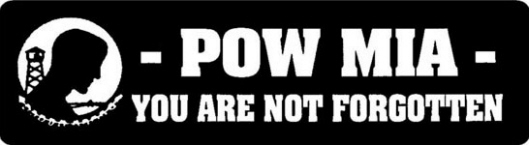 POW*MIA You Are Not Forgotten Stickers