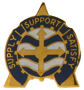 107th Service & Supply Battalion Crests