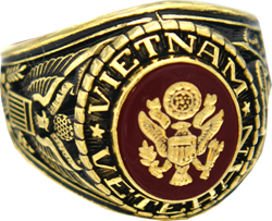US Army Vietnam Veteran Rings, Military