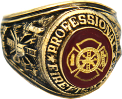 Professional Firefighter Rings