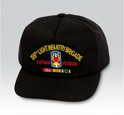 199th Light Infantry Brigade Vietnam Veteran Military Ball Caps