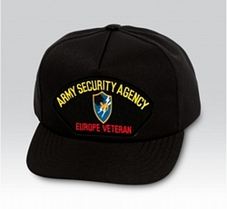 Army Security Agency Europe Veteran Military Ball Caps