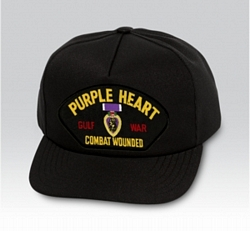 Purple Heart Gulf War Military Ball Caps