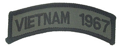 Vietnam 1967 Tab Patches