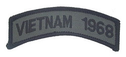 Vietnam 1968 Tab Patches