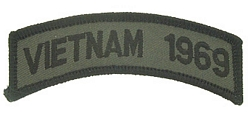 Vietnam 1969 Tab Patches