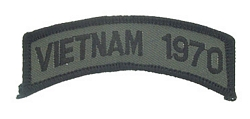 Vietnam 1970 Tab Patches