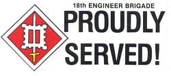 18th Engineers Brigade Bumper Stickers