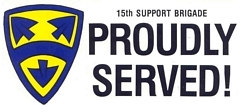 15th Support Brigade Bumper Stickers