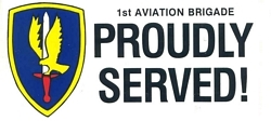 1st Aviation Brigade Bumper Stickers