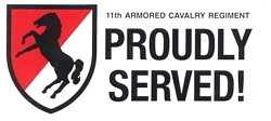 11th Armored Cavalry Regiment Bumper Stickers