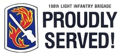 198th Light Infantry Brigade Bumper Stickers