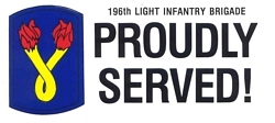 196th Light Infantry Brigade Bumper Stickers
