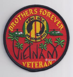 Brothers Forever Vietnam Veteran Patches.
