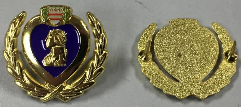 Purple Heart Wreath Hat Pins