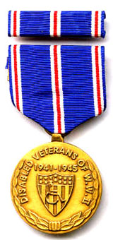 World War II Disabled Vet Commemorative Medals