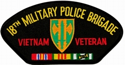 18th Military Police Brigade Vietnam Veteran Patches