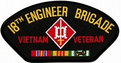 18th Engineer Brigade Vietnam Veteran Patches