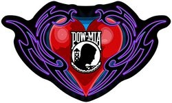 "POW/MIA Heart Back Patches (4"")"