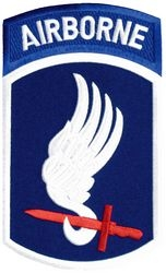 173rd Airborne Brigade Back Patches