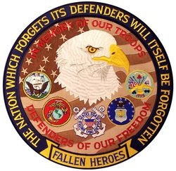 "Fallen Heroes Back Patches (12"")"