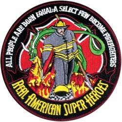 "Real American Super Heroes Back Patches (5"")"