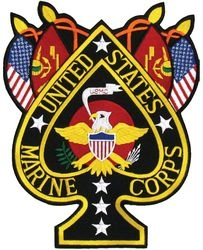 US Marines Ace of Spades Back Patches