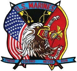 USA/US Marines Flags Back Patches