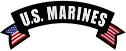 US Marines Rocker Back Patches