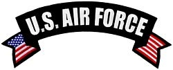 US Air Force Rocker Back Patches