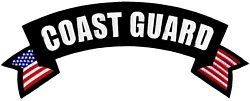 Coast Guard Rocker Back Patches