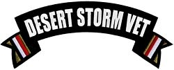 Desert Storm Vet Rocker Back Patches