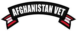 Afghanistan Vet Rocker Back Patches