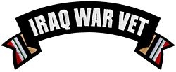Iraq War Vet Rocker Back Patches