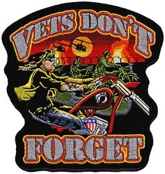 "Vets Don't Forget Back Patches (5"")"