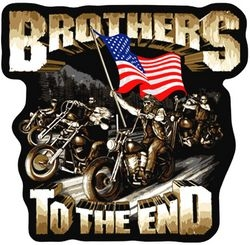 "Brothers To The End Back Patches (11"")"
